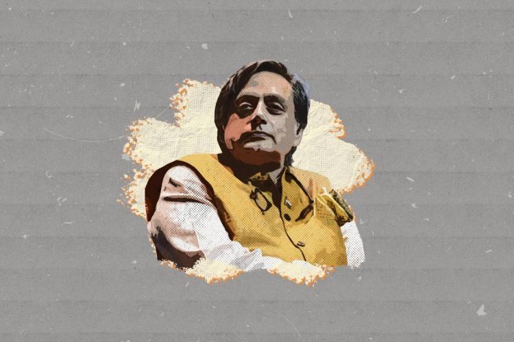 Stylised image of Thiruvananthapuram MP Shashi Tharoor.