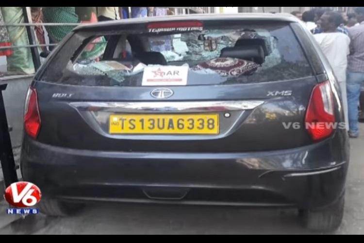 Hyderabad youngster on a joy-ride in dads car rams into students injures 12