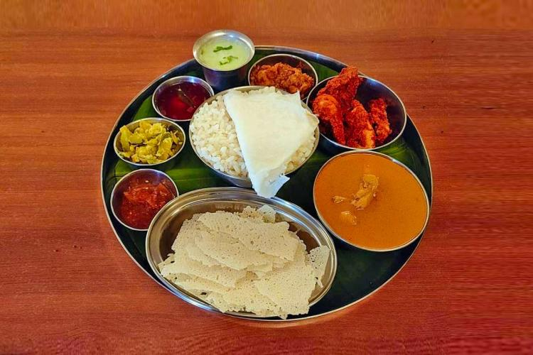A non veg meals at Shetty lunch home in Kundapur in Mangaluru