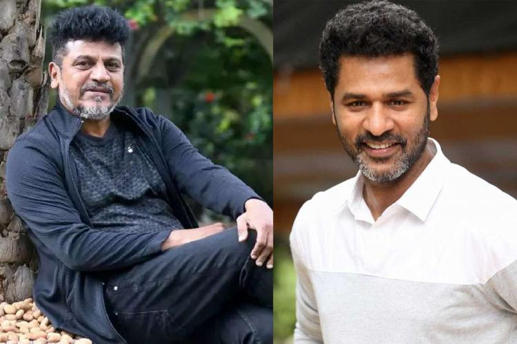 A collage of actors Shiva Rajkumar and Prabhu Deva