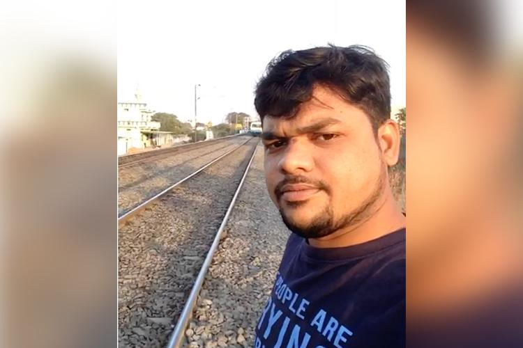 Hyderabad man run over by speeding train while taking a selfie