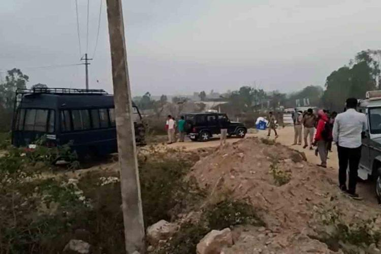 A Truck explosion in Shivamogga has killed six people Visuals from the spot