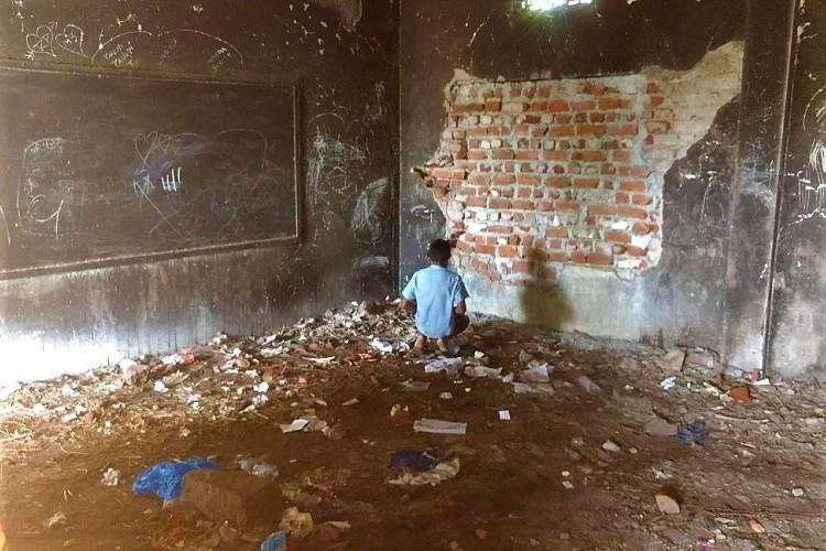 Students of this govt school near Hyd defecate in the open You can help get them toilets