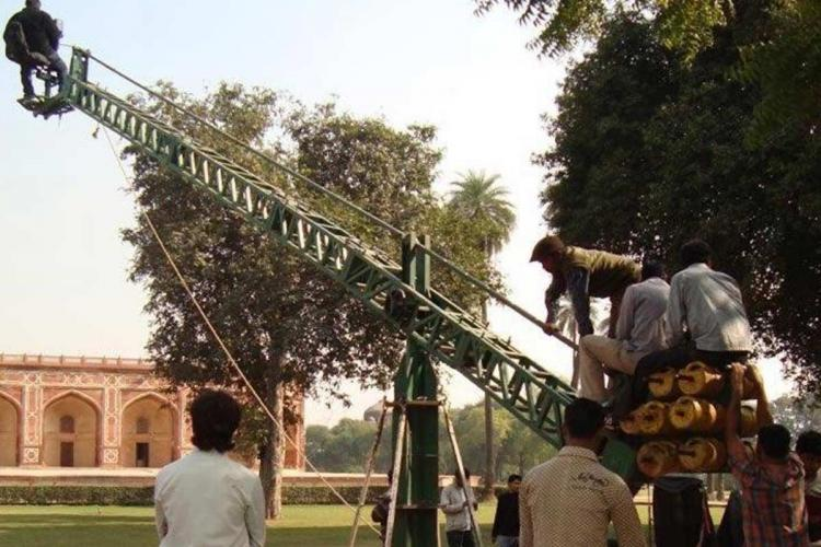 Film shooting happening at a location