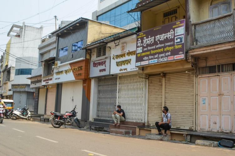 Shops in Pune closed due to a lockdown