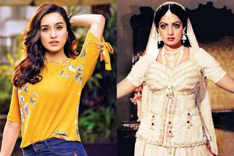 Shraddha Kapoor and Sridevi collage