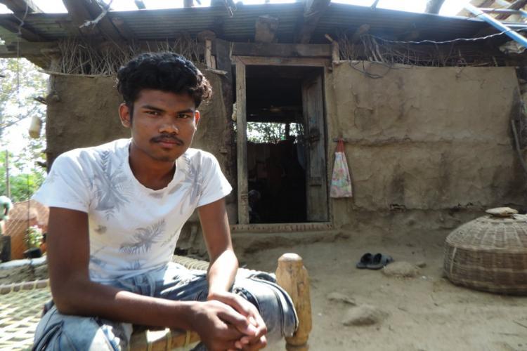 Sidam Mahesh at his residence in Rampur B of Sirikonda in Adilabad