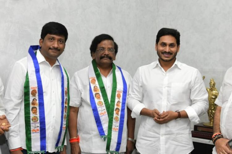 Sidda Raghava Rao and his son joining YSRCP in Chief Minister Jagans presence