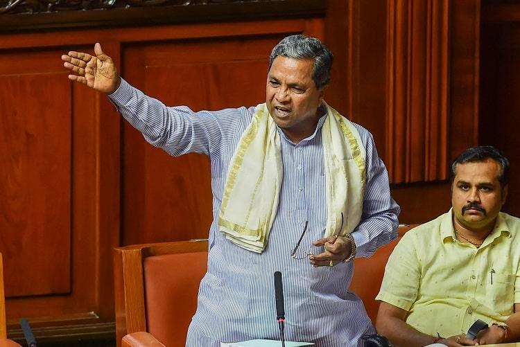 Siddaramaiah in the Assembly