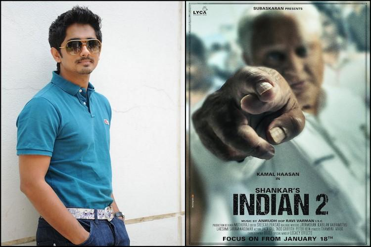 Siddharth lands a pivotal role in Kamal Haasans Indian 2
