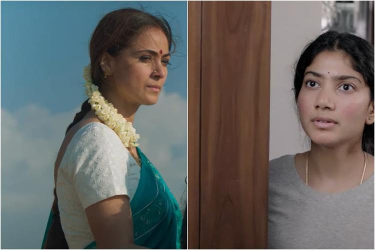 Simran and Sai Pallavi collage from Paava Kadhaigal