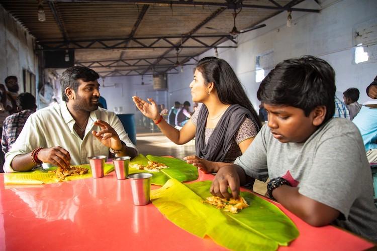 Watch Vijay Sethupathi and son Surya mock fight for Sindhubaadh
