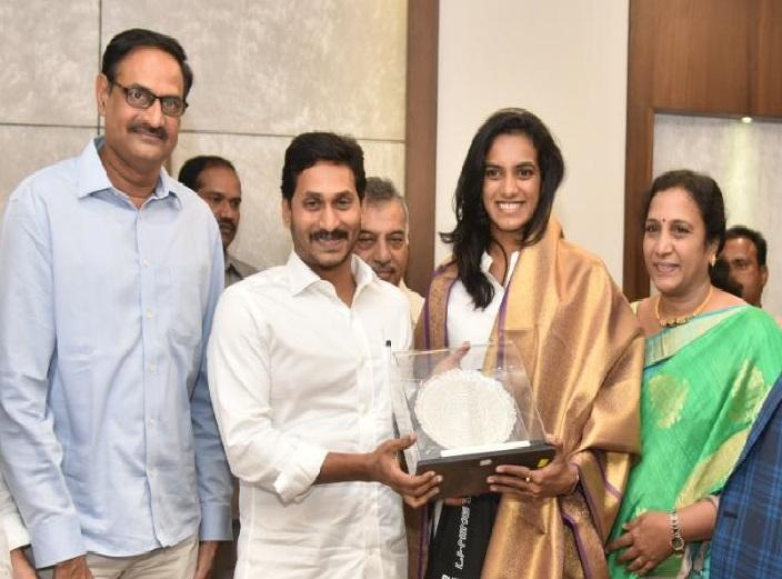 PV Sindhu meets Andhra CM requests land in Vizag for badminton academy