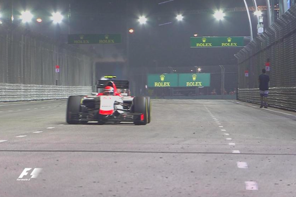 Indian-origin man charged for walking on Singapore F1 track
