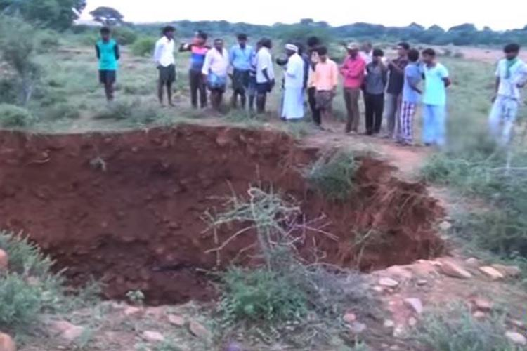 Sinkholes scare residents in Andhras Kadapa district