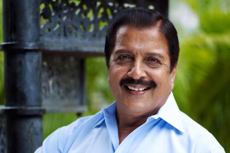 Actor Sivakumar smiling