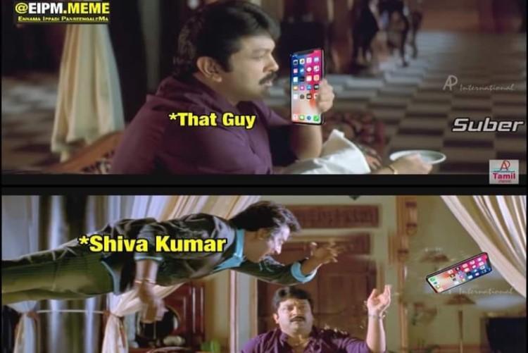 Watch Sivakumar smacks phone away from young mans hand memes flood the internet