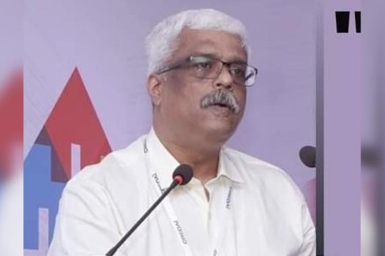 M Sivasankar IAS speaking at a function