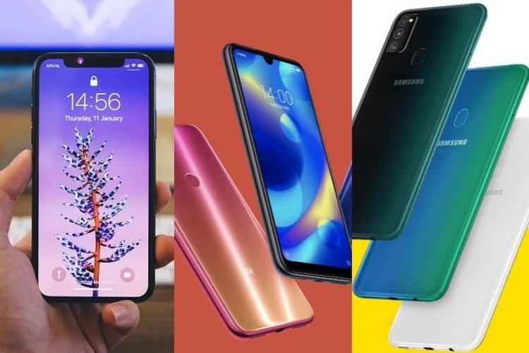 Smartphones of various companies