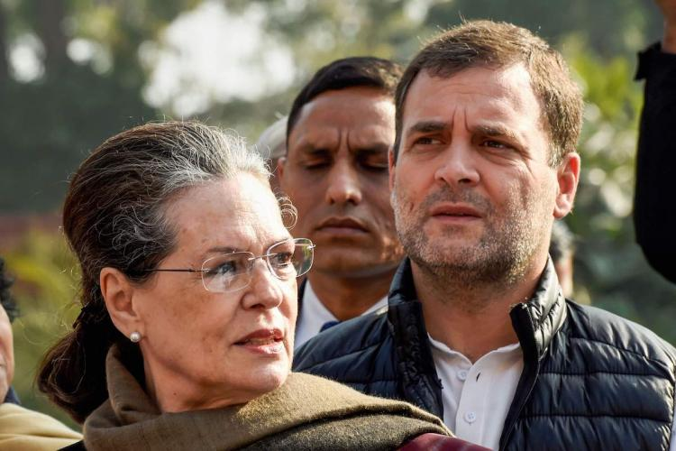File image of Congress leaders Sonia Gandhi and Rahul Gandhi for a story on the revitalisation of the Congress what direction can the party take