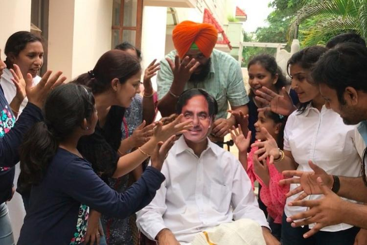 Fed up of govts inaction over excess school fees Hyd parents hit out at KCR with Sonu Song