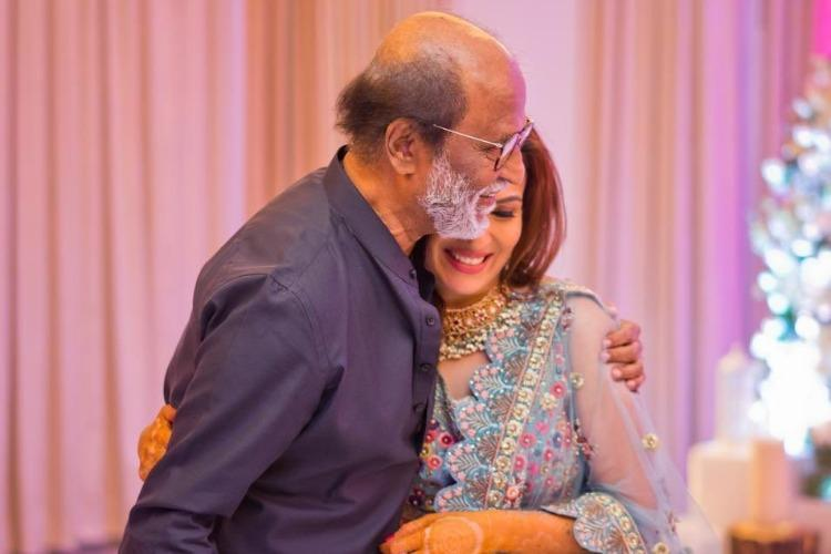 Rajinikanth dances at daughter Soundarya's sangeet