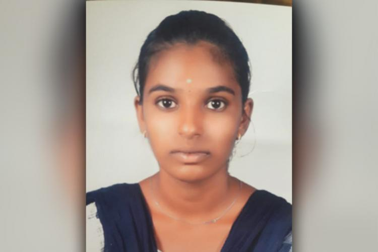 A photo of NEET aspirant Soundharya who died by suicide
