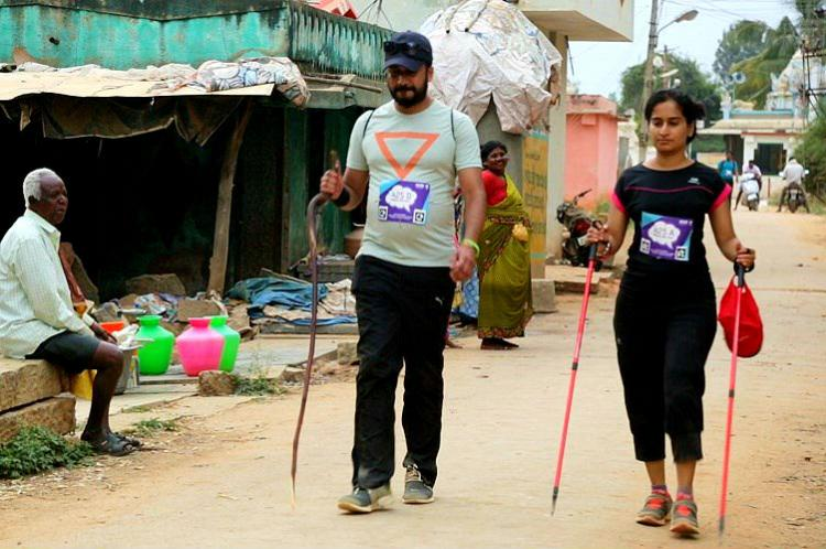This Bengaluru woman has only 10 vision but she still walked 50km for the cause of equality