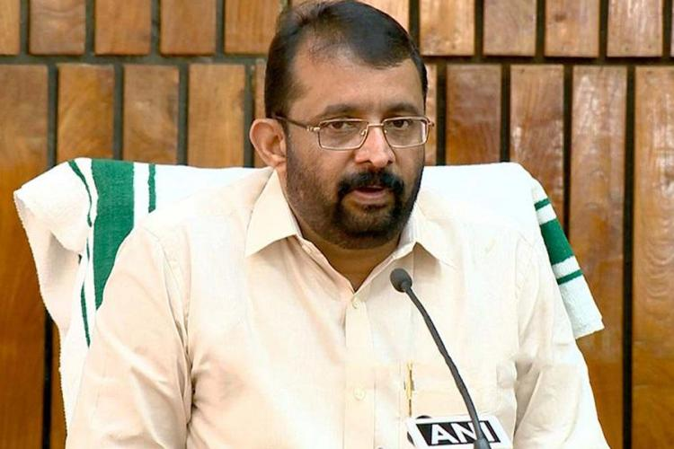 Kerala Speaker P Sreeramakrishnan addressing press meet He is looking in front at the reporters with a slightly puzzled look