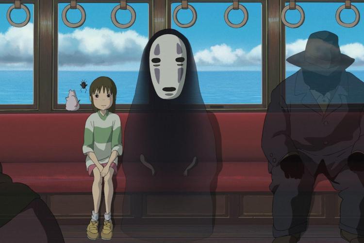 Studio Ghibli film Spirited Away train scene scene
