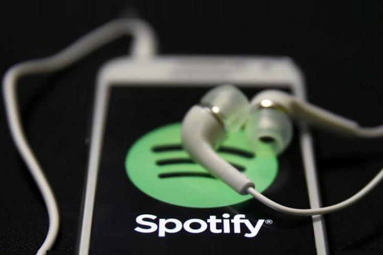 Spotify logo on a mobile screen
