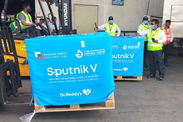 Sputnik V second consignment arrived in Hyderabad