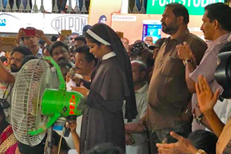Its time the church drops its silence Sr Anupama thanks supporters at nuns protest