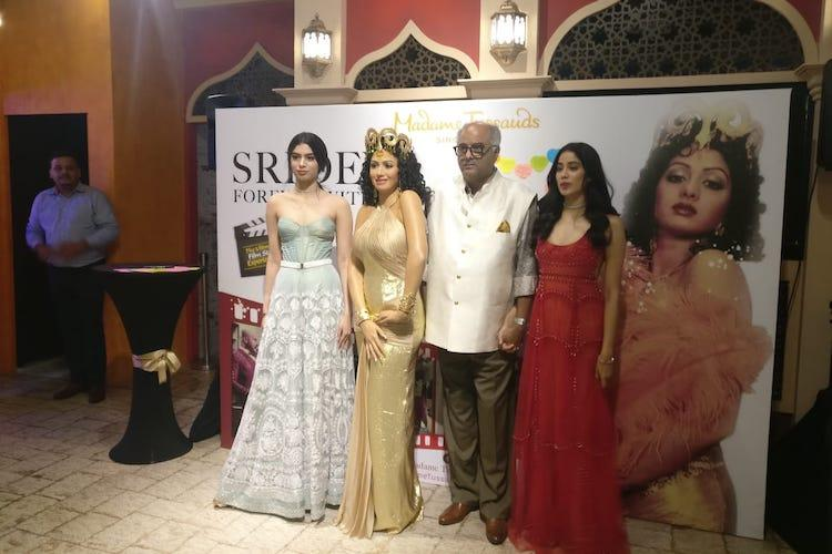 Sridevis wax statue unveiled at Madame Tussauds in Singapore