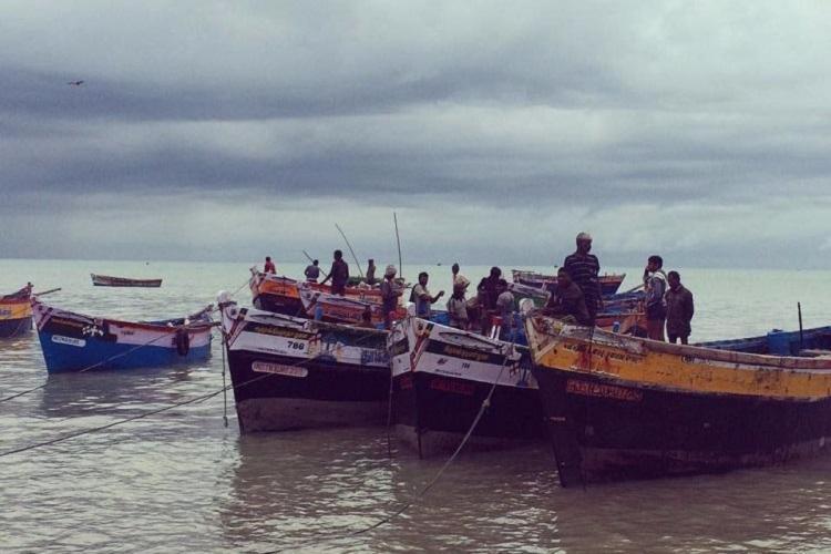 Boats in the coast of Sri Lanka