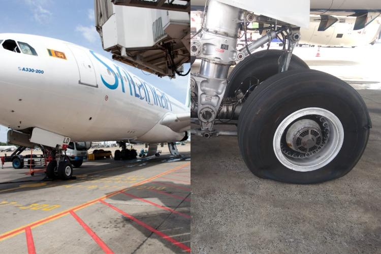 Srilankan Airlines tyre bursts on landing in Chennai passengers escape unhurt