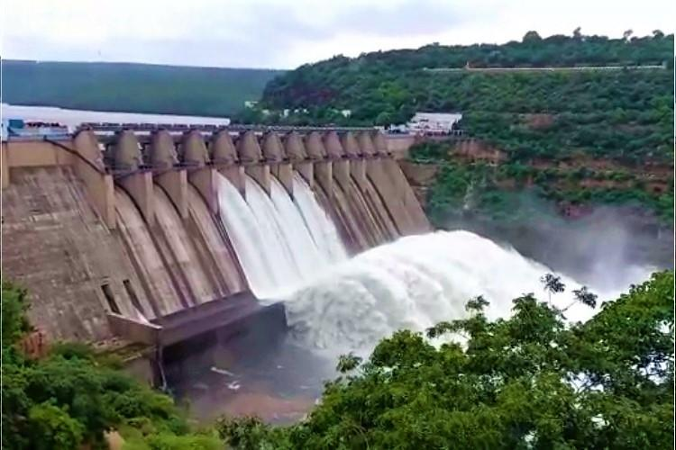 Gates of Srisailam reservoir in Andhra opened as dam sees huge inflows