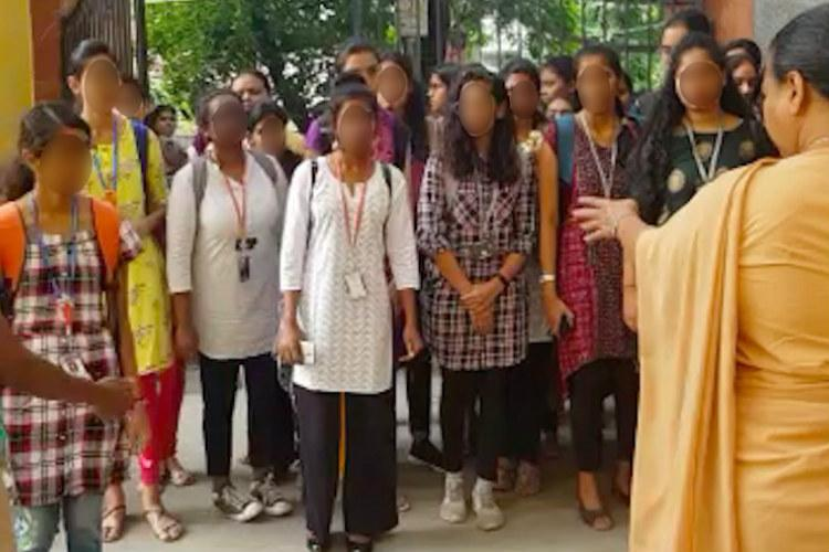 Hyderabads St Francis College posts guards to enforce dress code check length of kurti