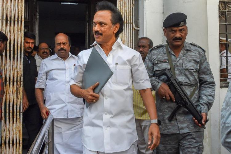 DMK President M K Stalin launched the online drive at the Kalaignar Arangam