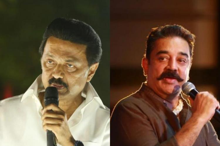MK Stalin and Kamal Haasan