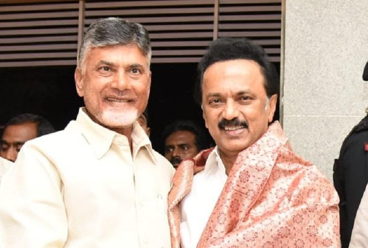 Need to unite despite differences Andhra CM Naidu after meeting DMKs Stalin