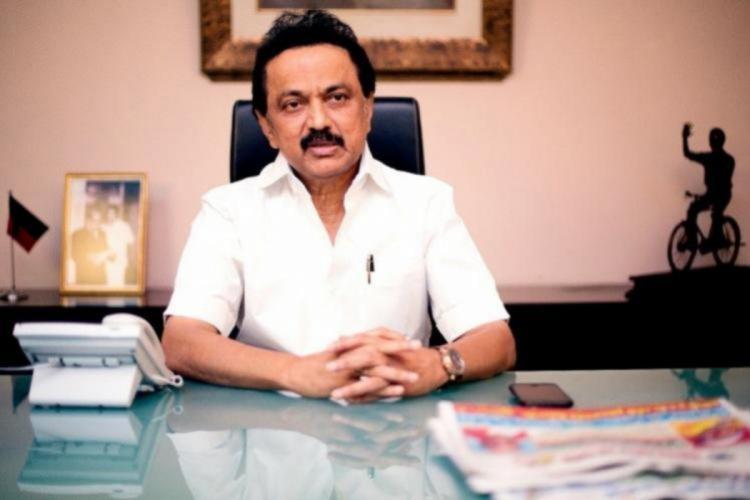 Tamil Nadu CM Stalin in his office