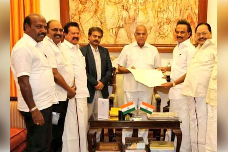 Stalin demands CBI probe into mega scams by TN govt meets Governor
