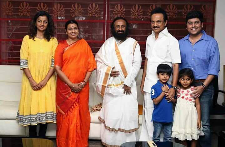 Meeting with Sri Sri Ravishankar a courtesy call says MK Stalin