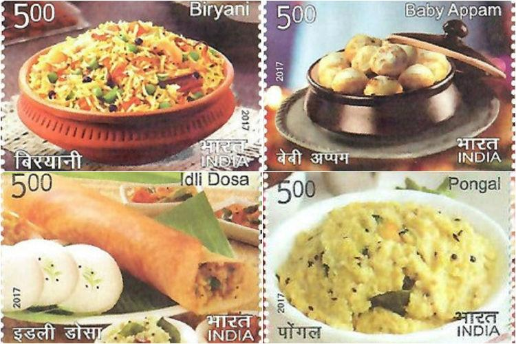 Tastes of India Idli-dosa biryani pongal and more get tributes on India Post stamps