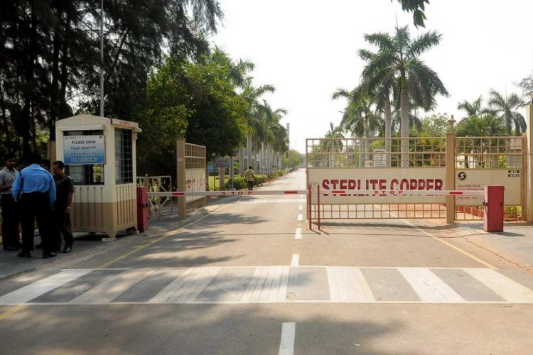 The gate of the Sterlite copper plant in Tamil Nadus Thoothukudi