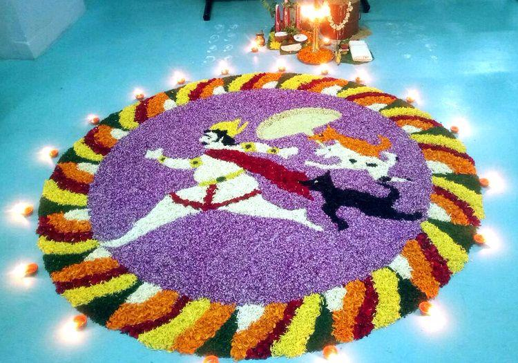 When stray dogs became a Pookkalam theme and chased away Mahabali