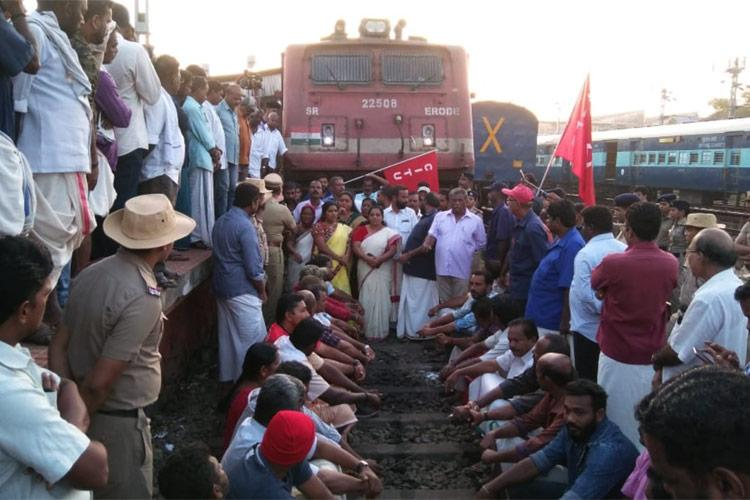 Trade unions strike Normal life hit in Kerala bus and train services disrupted