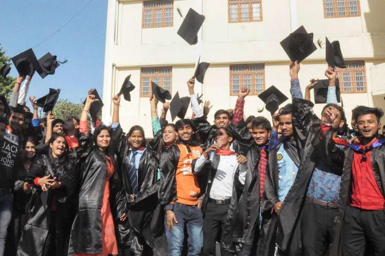 Students graduation ceremony after undergraduation course
