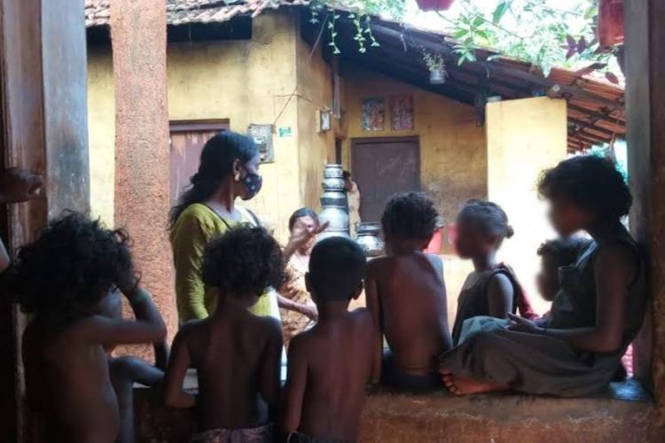 Students tribal colony Nilambur Kerala